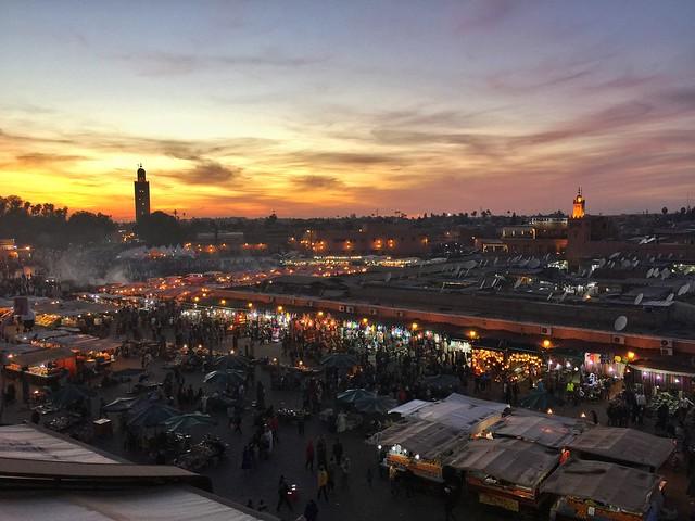 Plaza Jemaa el Fna de Marrakech (Marruecos)
