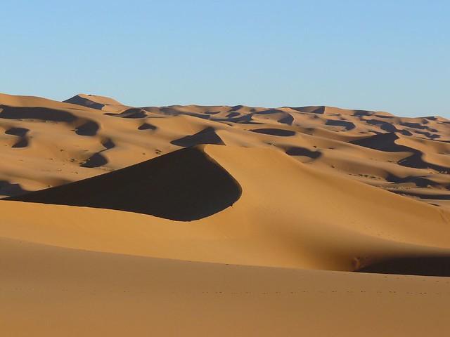 Desierto de dunas de Merzouga en Marruecos