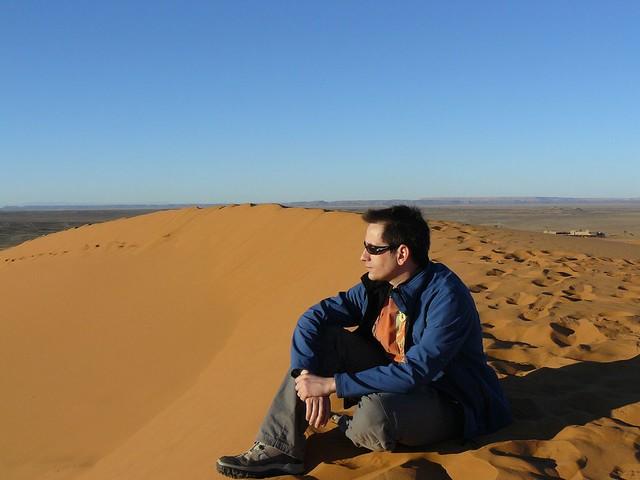 Sele en las dunas de Merzouga (Marruecos)