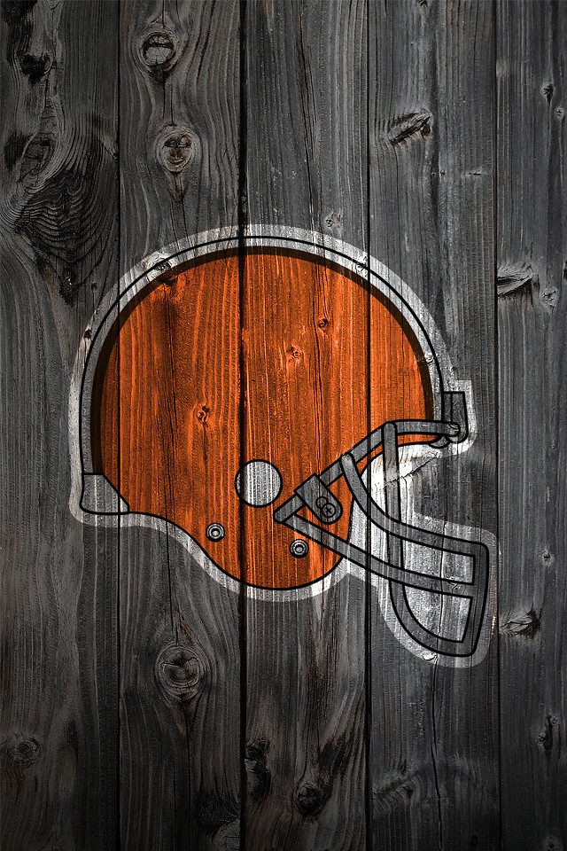Cleveland Browns Wood Iphone 4 Background Cleveland Browns