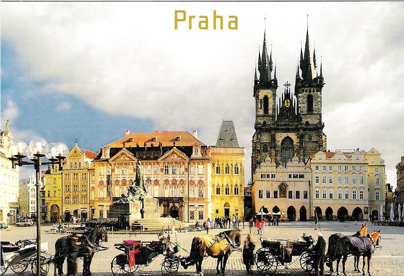 Прага открытка, сделать поздравления