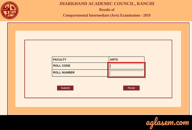 JAC 12th Compartment Result 2019