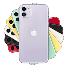 The iPhone 11 is available in six colours.