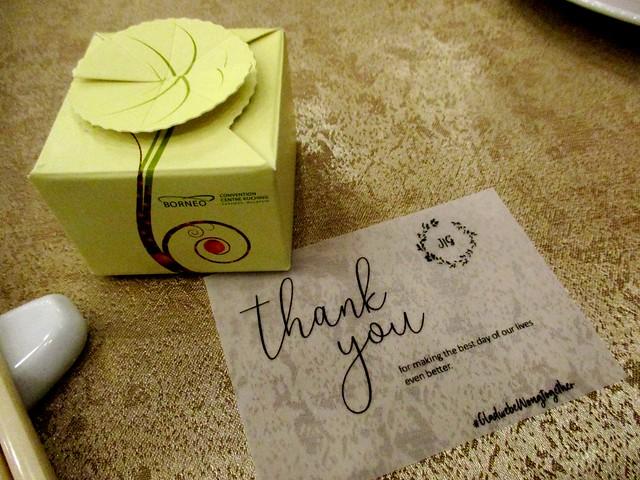 Door gift & note