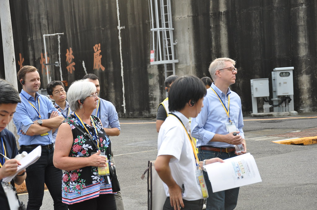 本次核安演習有20多位的美、日等國外賓前來觀摩。孫文臨攝