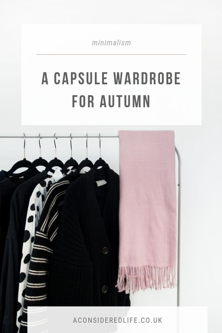 A Minimal Autumn Capsule Wardrobe