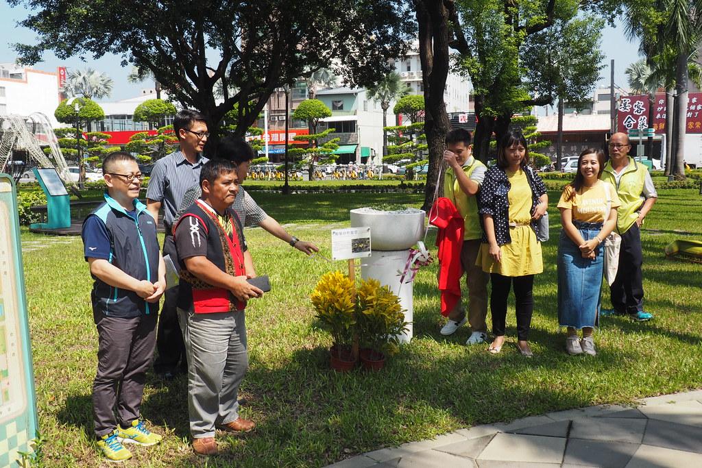鵝鑾鼻燈籠草移植到縣府旁綠地,讓洽公民眾多認識屏東在地特有珍稀植物。攝影:李育琴