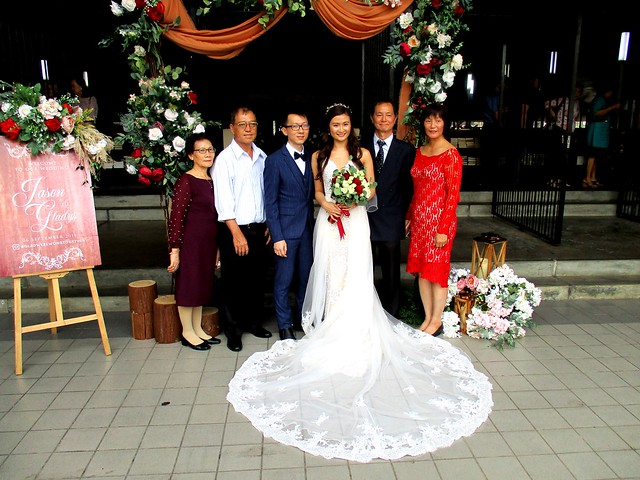 The newly-weds and their parents