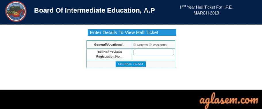 AP Hall Ticket 2020