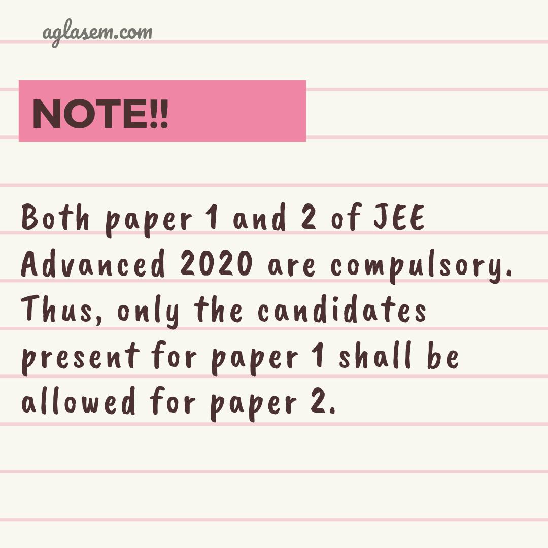 JEE Advanced 2020 Admit Card