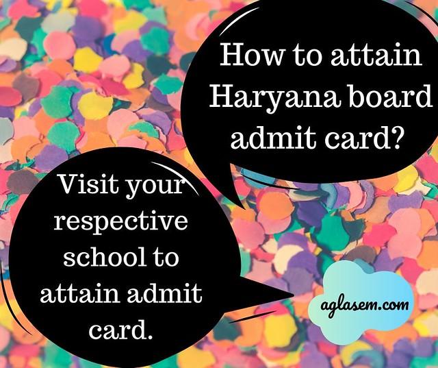 Haryana Board Admit Card 2020