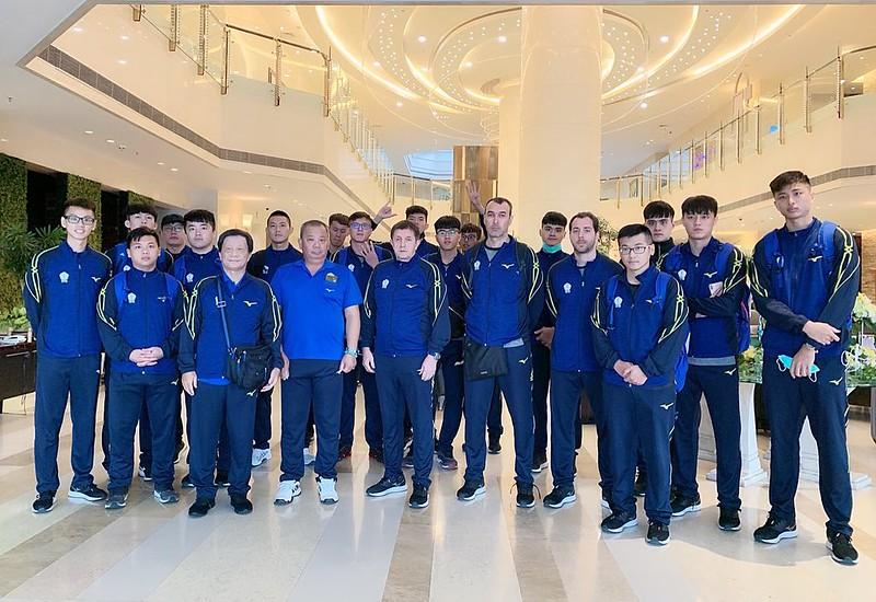 中華男排出征亞錦賽。﹝圖/中華排球協會提供﹞