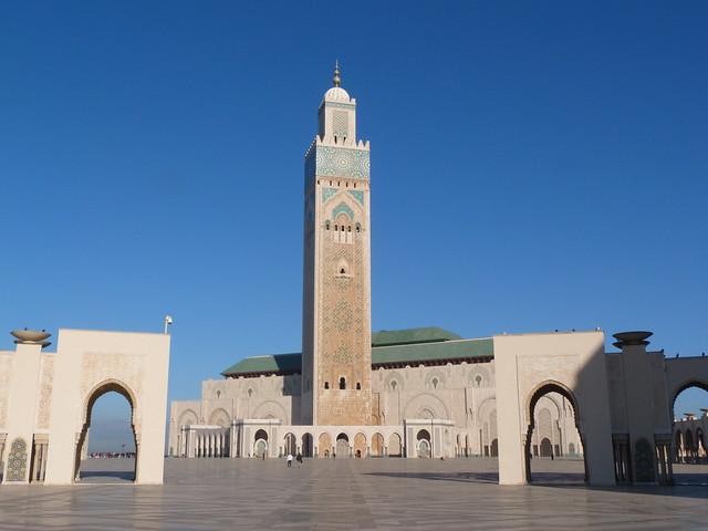 Mezquita de Hassan II en Casablanca (Marruecos)
